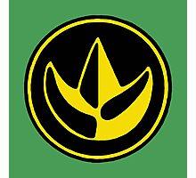 Mighty Morphin Power Rangers Green Ranger Symbol Photographic Print