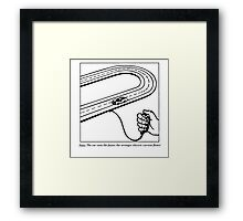 Slot Car (50s teaching drawing!) Framed Print