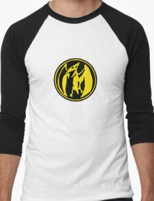 Mighty Morphin Power Rangers Pink Ranger Symbol Men's Baseball ¾ T-Shirt