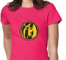 Mighty Morphin Power Rangers Pink Ranger Symbol Womens Fitted T-Shirt