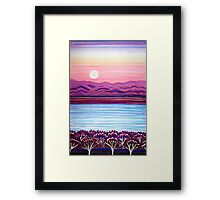 PERFECT PASTELS - Sunset Moon Framed Print