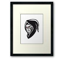 Death hooded sweatshirt evil Framed Print