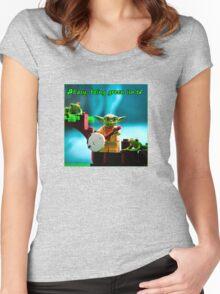 Greenin' ain't easy Women's Fitted Scoop T-Shirt