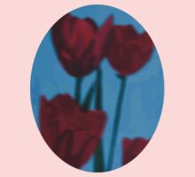 tulips in the fog Kids Clothes