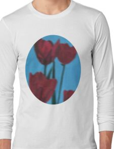 tulips in the fog Long Sleeve T-Shirt