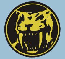 Mighty Morphin Power Rangers Yellow Ranger Symbol One Piece - Short Sleeve