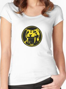 Mighty Morphin Power Rangers Yellow Ranger Symbol Women's Fitted Scoop T-Shirt