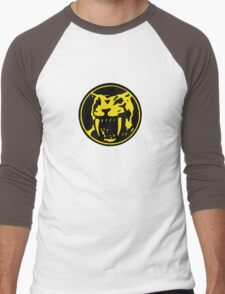 Mighty Morphin Power Rangers Yellow Ranger Symbol Men's Baseball ¾ T-Shirt
