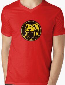 Mighty Morphin Power Rangers Yellow Ranger Symbol Mens V-Neck T-Shirt