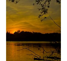 Sunset at the lake  Photographic Print