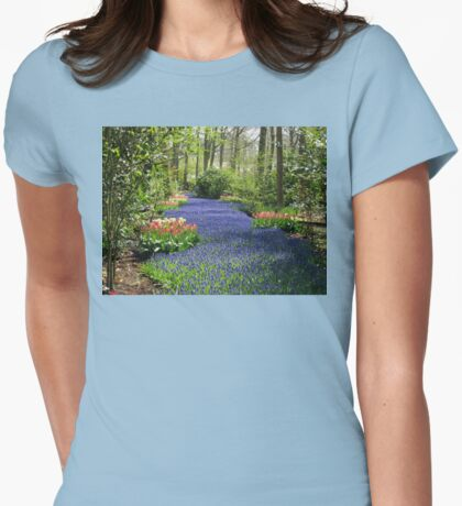 The Flower Lane, 2012, Keukenhof Gardens, Holland Womens Fitted T-Shirt