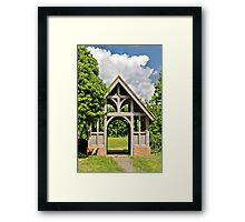 Churchyard entrance Framed Print