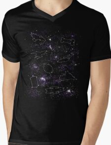 Star Ships Mens V-Neck T-Shirt