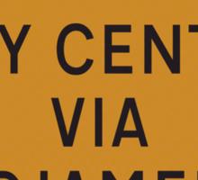 UK Diversion sign City Centre via N'Djamena.   Sticker