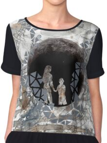 The Illusion of the Moons Women's Chiffon Top