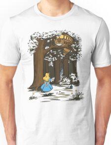 My Neighbor in Wonderland (Army) Unisex T-Shirt