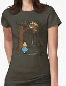 My Neighbor in Wonderland (Army) Womens Fitted T-Shirt