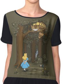 My Neighbor in Wonderland (Army) Chiffon Top
