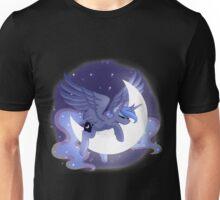 Luna Sleeping on Moon Unisex T-Shirt