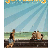 Sun Bears - St Kilda by BearYourArt