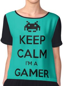 keep calm i'm gamer Chiffon Top