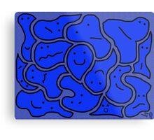 Huddlers Bright Blue Metal Print