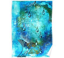 Gone in a Splash faux chine colle Poster
