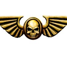 Imperial Skull and Wings Gold by simonbreeze