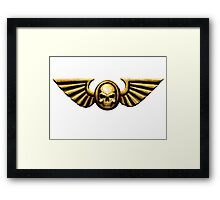 Imperial Skull and Wings Gold Framed Print