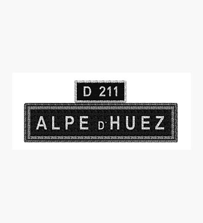 Alpe D'Huez Street Sign Cycling Photographic Print