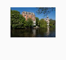 Amsterdam Canal Mansions - Floating By on a Boat Unisex T-Shirt
