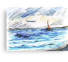 Whales Swim to Shore Canvas Print