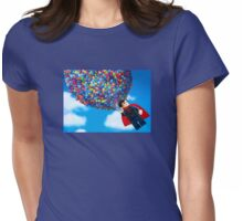 Up, Up, and Away Womens Fitted T-Shirt