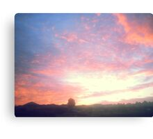 Beautiful Painted-Style Sunrise Canvas Print