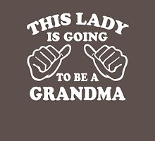 This Lady Is Going To Be A Grandma Womens Fitted T-Shirt