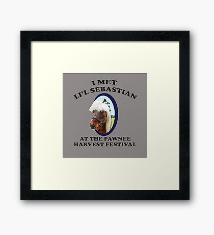 Li'l Sebastion Framed Print