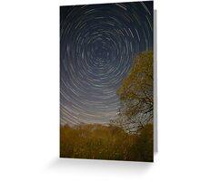 Woodland Star Trails Greeting Card
