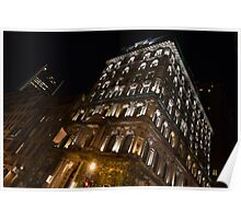 City Night Walks – Elegant Arched Lintels Poster