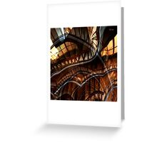 Stair Down the Up Case Greeting Card