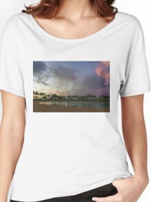 Tropical Sky and Palm Trees - Impressions of Hawaii Women's Relaxed Fit T-Shirt