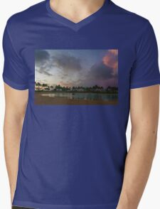 Tropical Sky and Palm Trees - Impressions of Hawaii Mens V-Neck T-Shirt