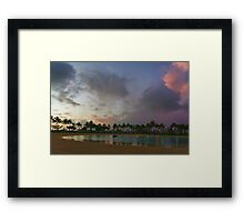 Tropical Sky and Palm Trees - Impressions of Hawaii Framed Print