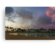 Tropical Sky and Palm Trees - Impressions of Hawaii Canvas Print