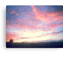 Beautiful Painted-Style Sunrise 3 Canvas Print