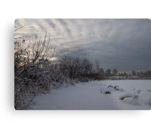Clearing Snowstorm Metal Print