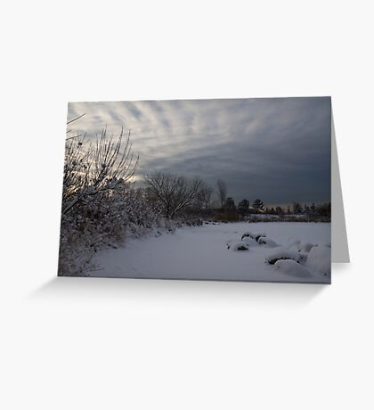 Clearing Snowstorm Greeting Card