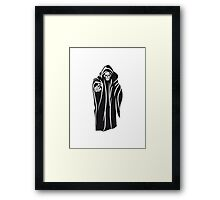 Death hooded evil sunglasses Framed Print