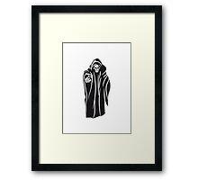 Death hooded evil sunglasses Framed Print