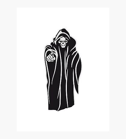 Death hooded evil sunglasses Photographic Print