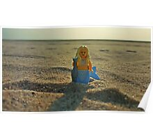 Lego Mermaid at the Beach Poster